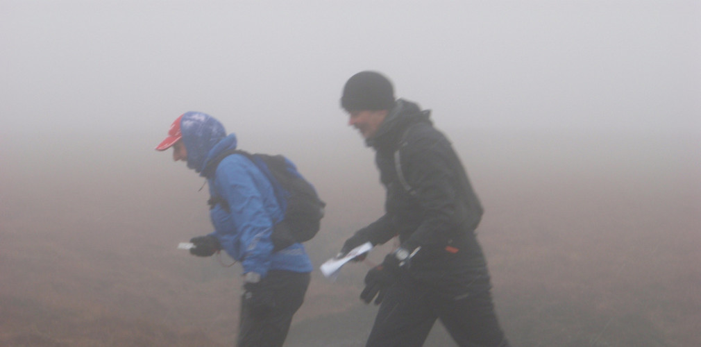fell running in bad visibility