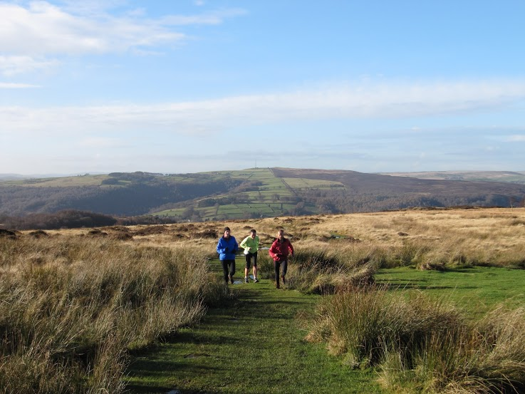 guided running in the Peak District