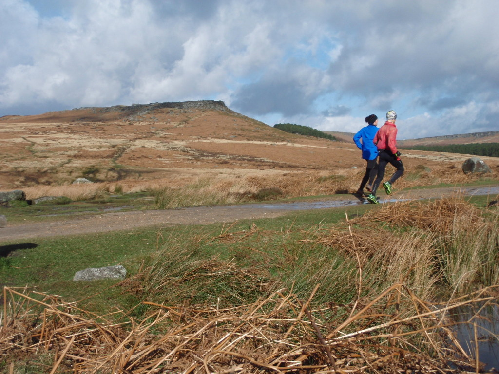 trail running in the Burbage Valley