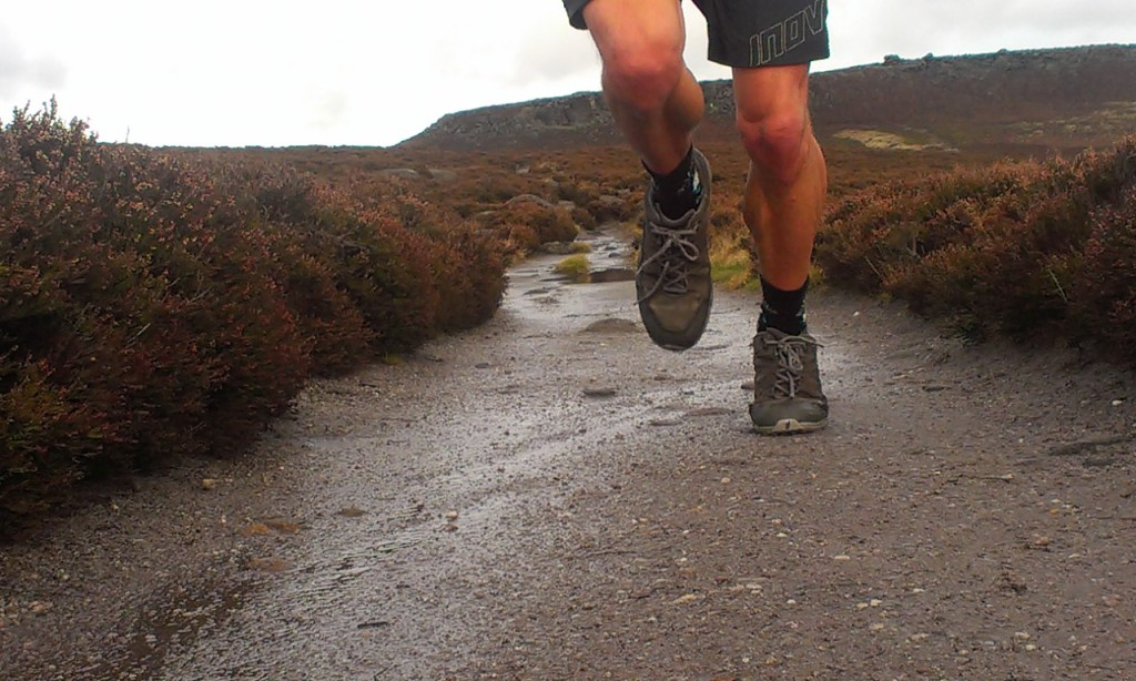 Trail running in the Peak District in Inov-8 Roclites