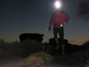 night running on technical terrain