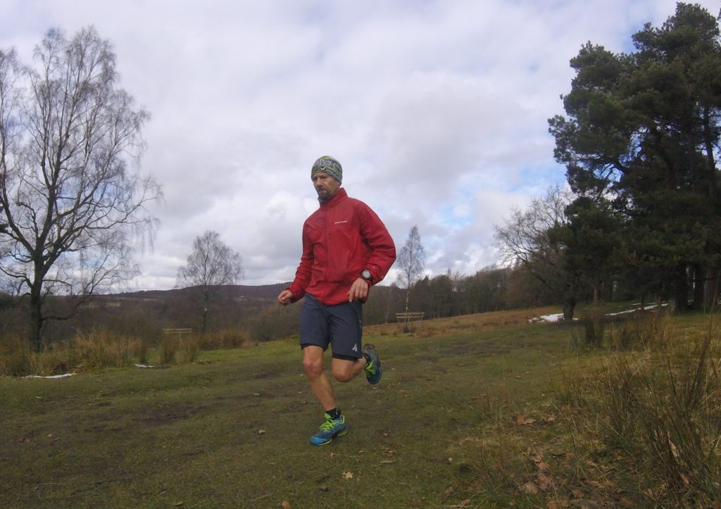 photo of trail runner wearing Aussie Grit shorts