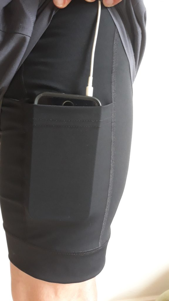 photo of phone pocket on Aussie Grit shorts