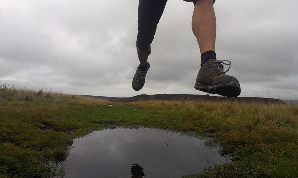 Trail running photograph