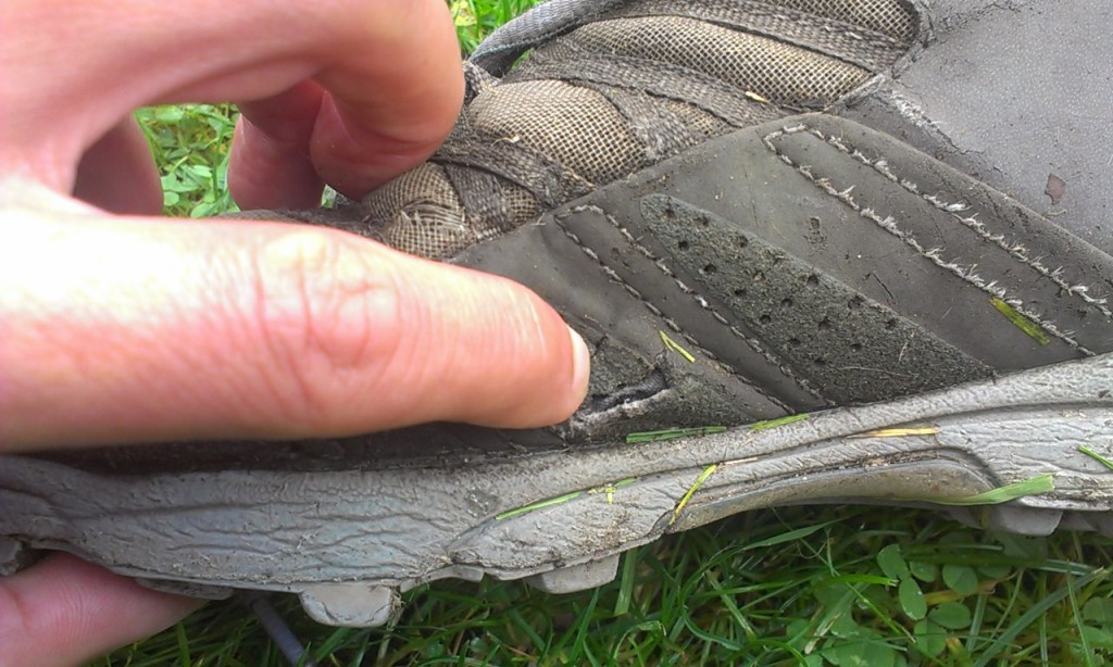 Inov-8 Roclite, damage to the rand