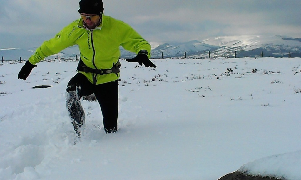 running in snow