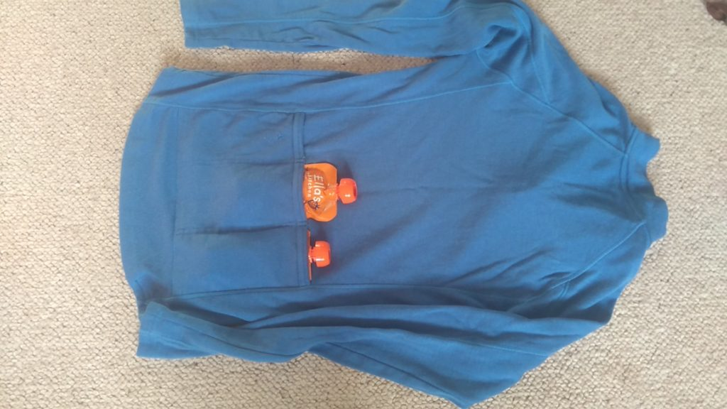 cycling top with rear pockets for food