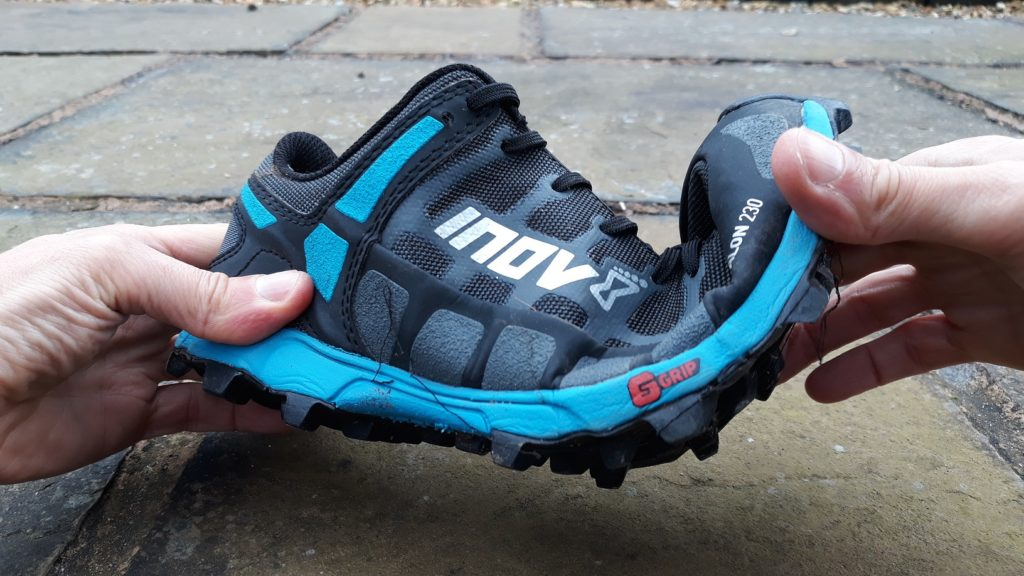 photo showing Inov-8 X-Talon 230 flexibility