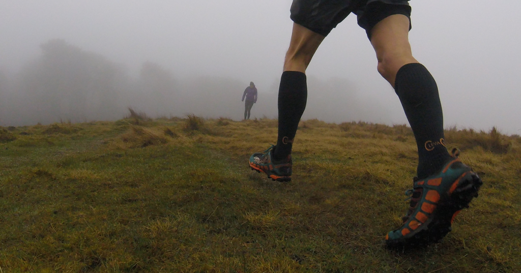 photo of runner wearing Copper Clothing compression socks