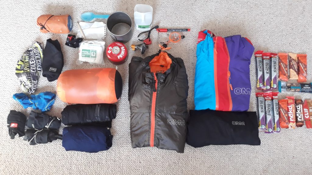 photo of Mountain Marathon kit