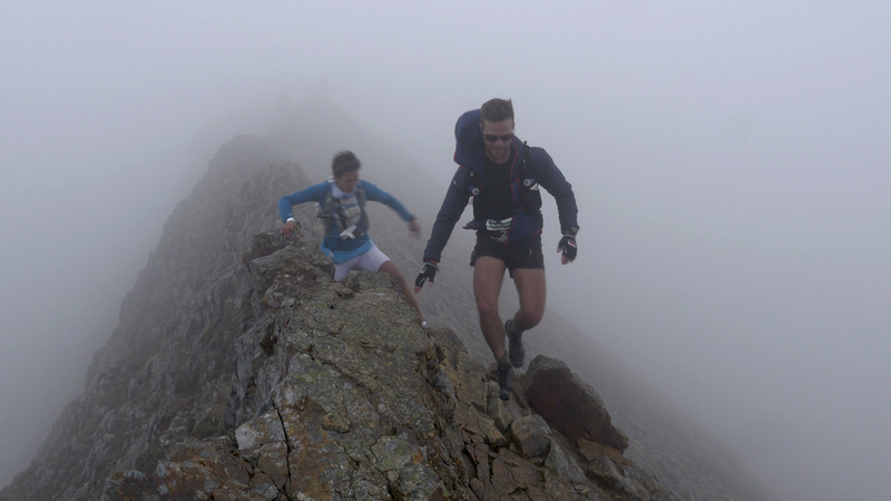 Crib Goch on the Berghaus Dragon's Back race