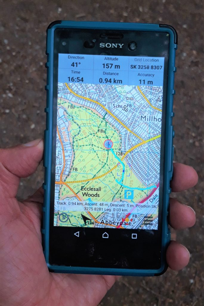 photo of map on a smartphone
