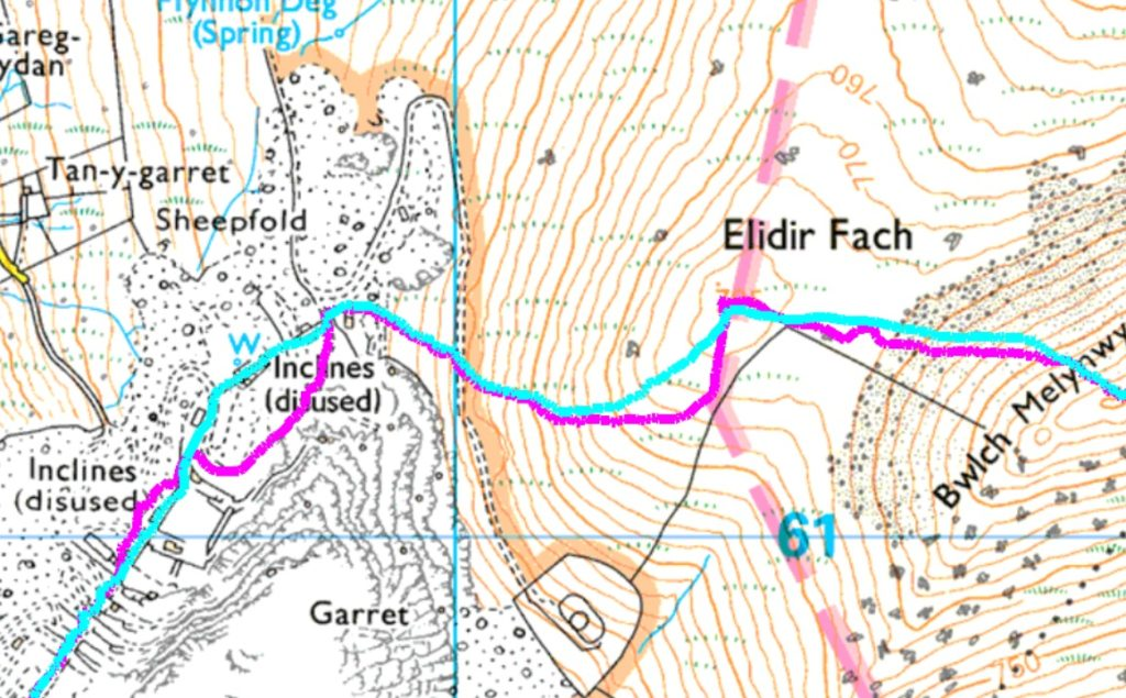 picture showing different routes on a map